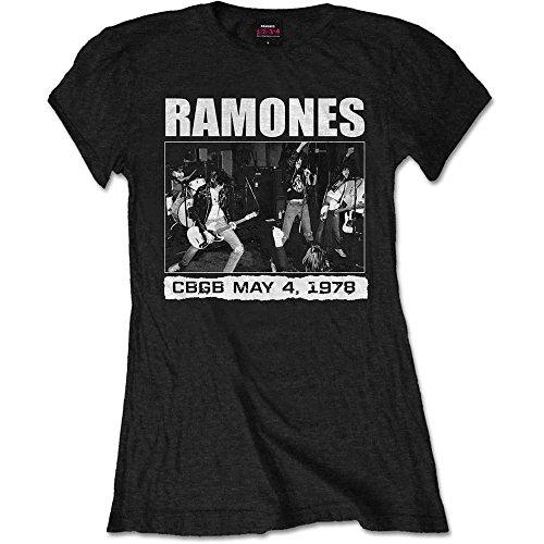 Ladies The Ramones CBGBs 1978 Punk Rock offiziell Frauen T-Shirt Damen (Medium) (Rock Punk T-shirt Tee)