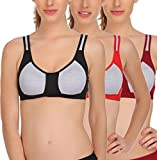 #10: FIMS® Women's Cotton Lycra Molded Cup_Sports Bra_Pack of 3