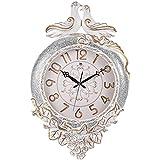 Continental moda relojes creativa salón de cuarzo reloj de pared de silencio de lujo moderno