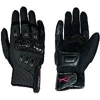 Guanto pelle moto corto protezione carbonio pelle traforata A-Pro Nero XL - Pelle Moto Guanto