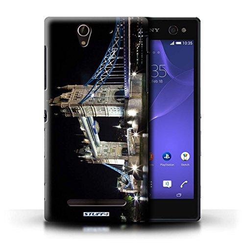 Kobalt® Imprimé Etui / Coque pour Sony Xperia C3 / Tower Bridge conception / Série Londres Angleterre Tower Bridge