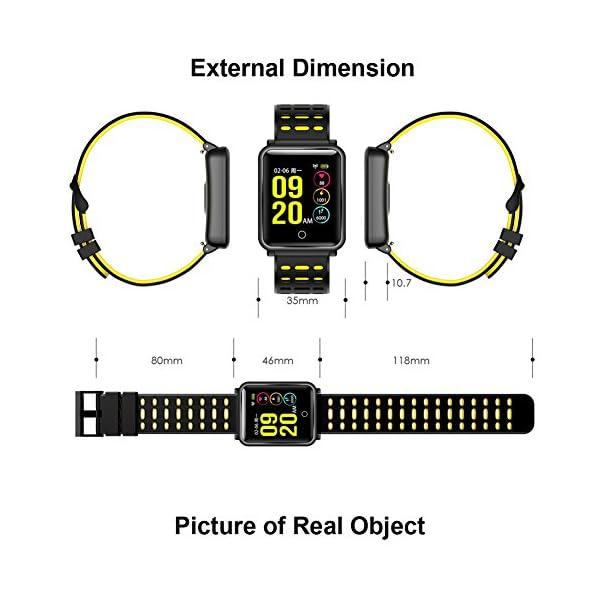 CanMixs Pulsera de Actividad Smartwatch, CM11 Impermeable IP68 Pulsera Inteligente con Podómetro, Monitor de Ritmo… 7
