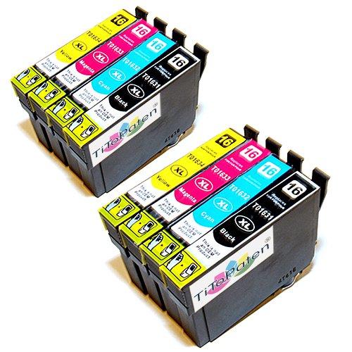 Preisvergleich Produktbild 8x Epson Workforce WF 2540 WF kompatible XL Druckerpatronen - 2xSchwarz-2xCyan-2xMagenta-2xGelb - Patrone MIT CHIP !!!