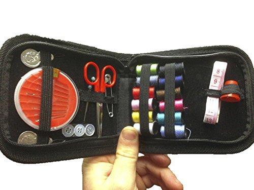 Ardisle-Kit per cucito da viaggio, con custodia, forbici per filo a forma di emergenza
