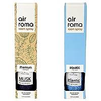 AirRoma Combo of Musk Fragrance Air Freshener Spray 200 ml & Atlantic Breeze Fragrance Air Freshener Spray 200 ml