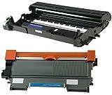 Toner TN2220 mit Trommel DR2200 für Brother HL-2240 HL-2240D HL-2250DN HL-2270DW HL-2130 HL-2132 DCP-7060 DCP-7065DN DCP-7060D DCP-7070DW DCP-7055 MFC-7360N MFC-7860DW MFC-7460DN MFC-7460N - Schwarz, hohe Kapazität