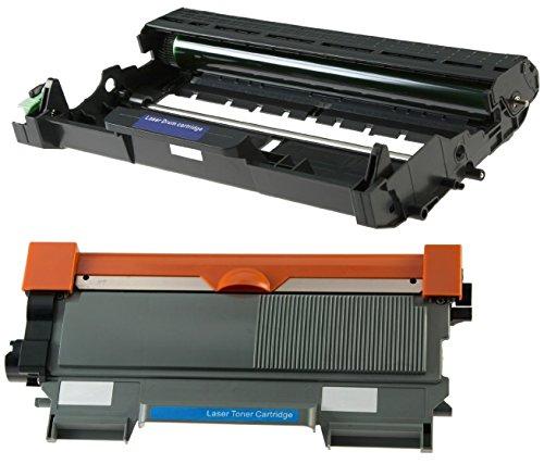 Toner TN2220 mit Trommel DR2200 kompatibel für Brother DCP-7055 DCP-7060D DCP-7065DN HL-2130 HL-2132 HL-2135W HL-2240 2240D HL-2250DN HL-2270DW MFC-7360N MFC-7860DW FAX-2840 - Schwarz, hohe Kapazität