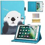 dteck Universal Schutzhülle für Samsung Galaxy Tablet, Apple iPad Mini, iPad 9,7, Amazon Kindle, Google Nexus und Mehr 16,5–26,7cm Tablet 01 Smile Panda for 9.5-10.5 inch Tablet