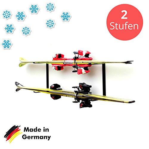 Ski étagère fixation mural (Tablette d'étagère: 2)
