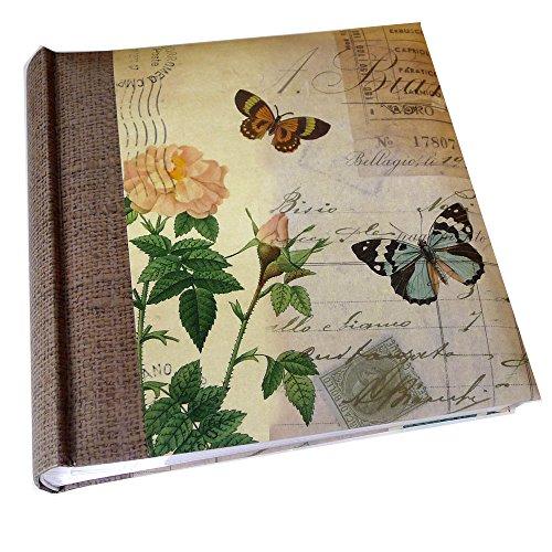 Kenro Summer Breeze Rose und Schmetterling Design Memo Fotoalbum mit 200Seiten, mehrfarbig, 6x 4-Zoll/10x 15cm (4x6 Fotoalbum)