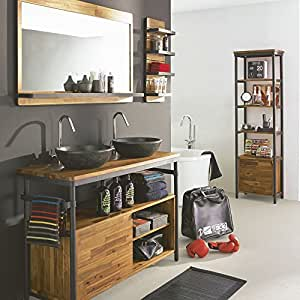 bad waschtisch kota akazien holz und metall aline natur k che haushalt. Black Bedroom Furniture Sets. Home Design Ideas