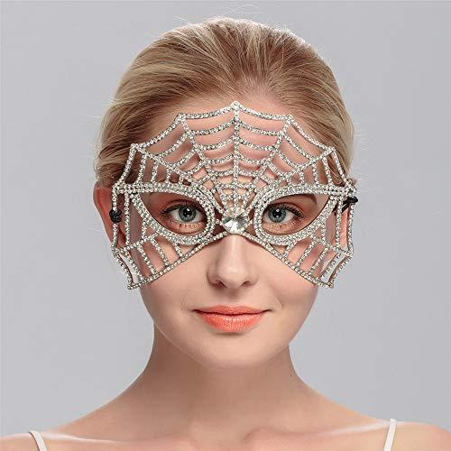 wachsene Braut Tiara Maske Strass Hochzeit Zubehör Spielzeug ()
