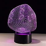 Acryl Nachtlicht Acryl Poker Würfel Licht 3D Nachtlicht Led Kinder Nachtlicht Farben Ändern Tisch Schreibtischlampe Dekoration Usb Touch Sensor Lampe