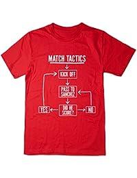 Balcony Shirts 'Match Tactics - Pass to Sanchez' Mens Funny Football T Shirt