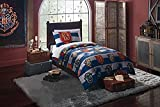 Harry Potter 'Rugby Pride' 4 Piece Twin Bed in a bag Bedding set for Kids – Piumino, federa e lenzuola