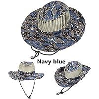 Blue-Yan Outdoor Travel Cappello da Sole Cappello da Pesca Cappello Largo  Protezione Solare Protezione 9059bc4bdfab