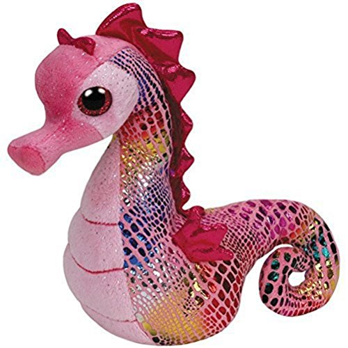 ty-42072-peluche-beanie-babies-majestic-hippocampe-rose