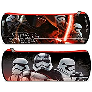 Trousse ronde scolaire Star Wars 7 VII The Force Awakens Kylo Ren 22 * 7 * 7 cm Rentrée 2016