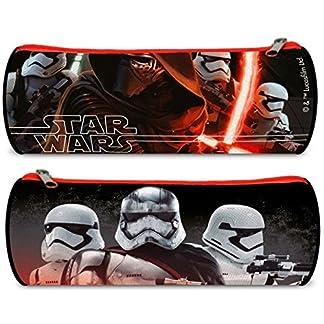 Estuche redondo escolar Star Wars 7VII The Force Awakens Kylo Ren 22x 7x 7cm 2016
