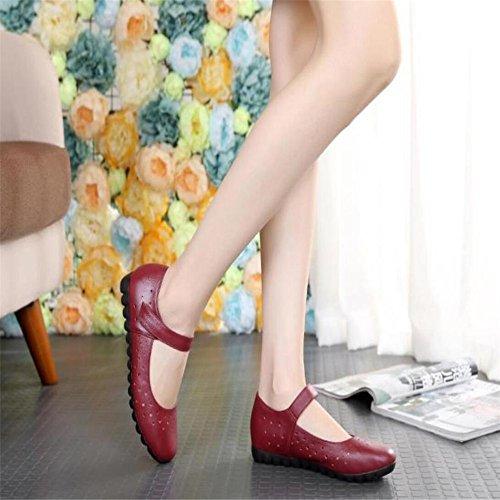 Le Donne S Scarpe Fondo Piatto Soft Skid Anti-Skid Rientrano Donne Cava S Scarpe Rosso