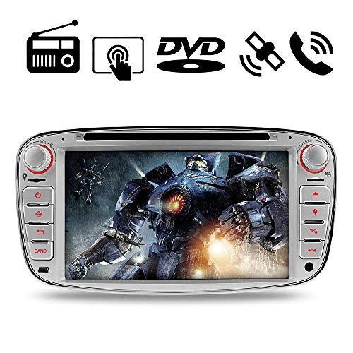 """A-SURE 7 """" Doppel 2 Din Autoradio Navi DVD GPS Bluetooth FM Radio RDS Mirrorlink Für Ford Mondeo Focus C-MAX / S-MAX Galaxy KUGA W4FFSQ 2-Jahre-Garantie"""