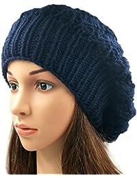 Magic Needles - Winter Woolen Cap (Handmade Womens Slouchy Shroom Beanie