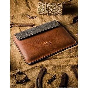 iPad Pro 12.9 inch, iPad 10.2 Zoll Ledertasche/Hülle | Classic Brown, iPad Pro 11 Zoll, 100% Wollfilz, Apple, Vintage Crazy Horse Leder, Tablettständer, 2019 iPad Air 10.5 Cover, Crazy Horse Craft