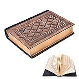 Europäische Vintage Style aus weichem Leder Dickes Tagebuch-Notizbuch Antique Gold Abdeckung 5.1*6.9*1.2 Inch