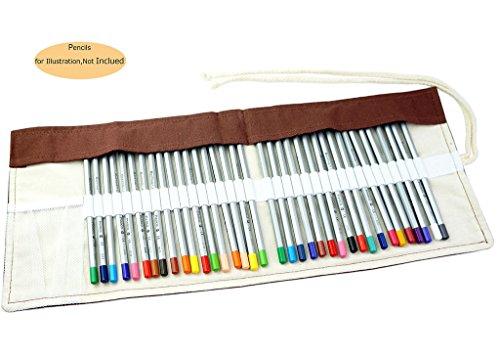 CROOGO Neuer Künstler Studenten Bleistifte Bleistift Kasten hält 36 Bleistifte Braun (Bleistifte NICHT enthalten)