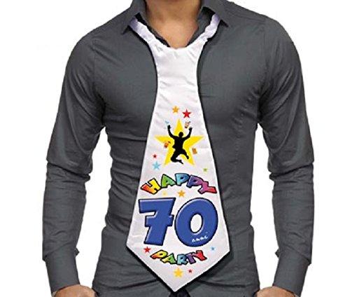 Cravattone 70 Anni Cravatta Gadget Idea Regalo Festa 70 Compleanno Uomo