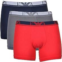 Emporio Armani Boxer calzoncillos, diseño de (3unidades), hombre, black - grey - red, small