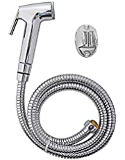 shree krishna sales SKS Aqua Conti Faucets Set with 1.5 m Flexible Chain Health Faucet, Wall Mount Installation Type
