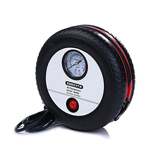 Portable Tyre Inflator, 12V Air Compressor Tyre Pump,Tyre Style LED digital display Tyre Inflation, Mini-pump Car Inflatable Electric Pump (40 Blow Gun)