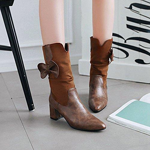 Indossando Marrone Stivali Taoffen Moda Donna wqnqxS