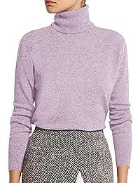 Tomwell Donne Maglione Maglia Alta Collo Alto Allentato Maglioni Inverno  Elegante Jumper Sweater Pullover f62731218f6