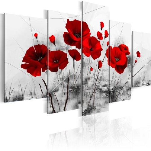 murando - Bilder 100x50 cm Vlies Leinwandbild 5 TLG Kunstdruck modern Wandbilder XXL Wanddekoration Design Wand Bild - Blumen 0107-5