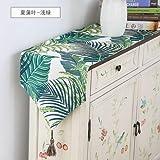 Qinqin666 Tischläufer Sinn für Mode der luxuriösen minimalistischen Stil Tisch Läufer Tischfahne Fahne C 30x100cm