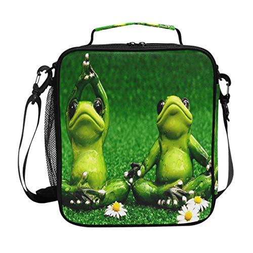 Isolierte Lunchbox mit Frosch-Toga-Motiv, quadratisch, tragbar, große Kapazität, für Reisen, Picknick, Schule, Handtasche, Kühler, warme Lunchbox für Kinder, Mädchen, Jungen, Teenager
