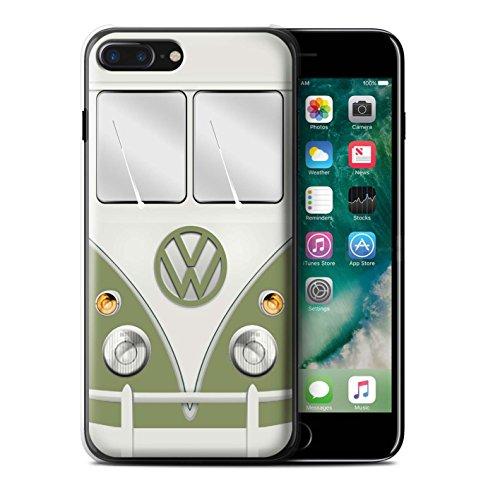 Stuff4 Hülle / Case für Apple iPhone 7 Plus / Mango Grün Muster / Retro T1 Wohnmobil Bus Kollektion Mango Grün