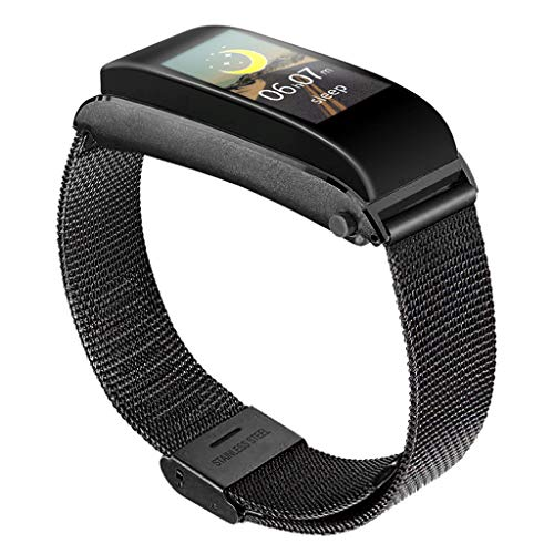 LRWEY Intelligente Armband-Bluetooth-Kopfhörer-Anruf-Herzfrequenz-Blutdruck-Monitor-Uhr, Für Android iOS