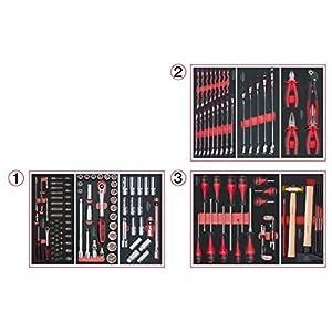 KS Tools 714.0158 Composition de 158 Outils 3 tiroirs pour servante pas cher