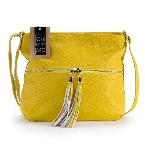 OH MY BAG - Sac à main bandoulière en cuir femme - Modèle London Nouvelle collection - SOLDES