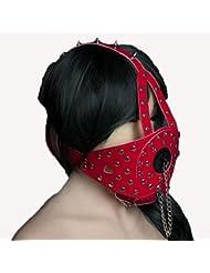 DD Sex plug Tipo de arnés Aparato de abuso Máscara roja