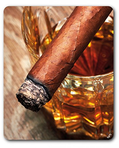 Preisvergleich Produktbild 1art1 89491 Alkoholische Getränke - Whiskey Und Zigarre Mauspad 23 x 19 cm