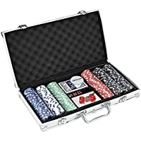 PANANASTORE Laser Poker Chip Set With Heavy-Duty Chips And A Lightweight Aluminum Case