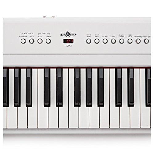 SDP-2 Stage-Piano von Gear4music + Komplettset weiß - 6