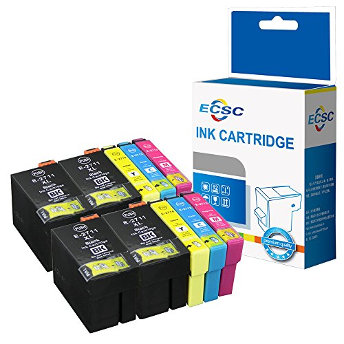 ECSC Compatible Encre Cartouche Remplacement Pour Epson WorkForce WF-3620 WF-3620DWF WF-3640DTWF WF-7110DTW WF-7210DTW WF-7610DWF WF-7620DTWF WF-7620TWF WF-7710DWF (BK/C/M/Y, 10-Pack)