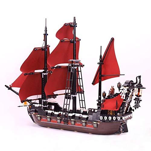 TGSEA 16009 Bausteine Königin Anne's Rache Pirates of The Caribbean Ship Bausteine Modell 4195 Lempin Schiffsspielzeug Ziegel