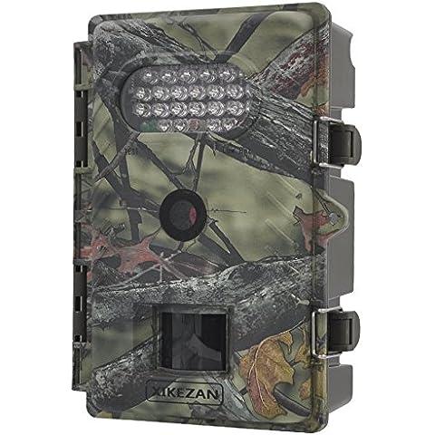 xikezan 720P 8MP visión nocturna de bajo brillo activado por movimiento digital de infrarrojos con disparador de rápida Juego Trail Cámara de caza, Camouflage-With White