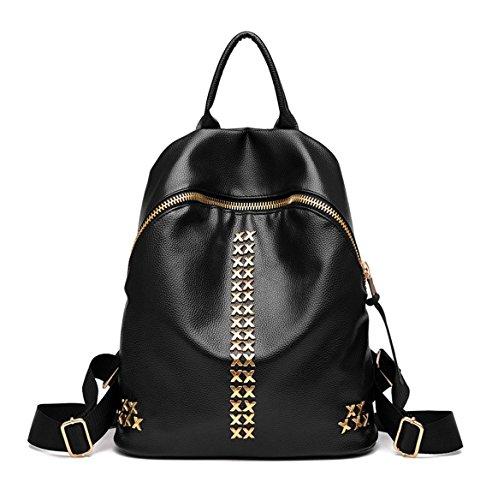 ad54eee4a27ae Keshi Pu Niedlich Schulrucksäcke Rucksack Damen Mädchen Vintage Schule  Rucksäcke mit Moderner Streifen für